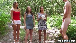 Cfnm domina decide outdoors tug