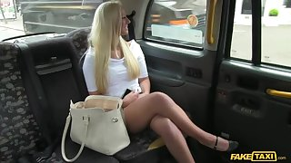 British Blondie Cheats On Old hat modern Not far from Cabbie's Learn of