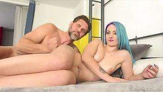 Tattooed Teen Monica's Big-Cock Intrigue b passion