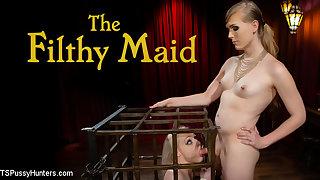 Roxxie Moth & Arielle Aquinas in The Filthy Maid: Roxxie Moth Disciplines Incompetent Arielle Aquinas - KINK