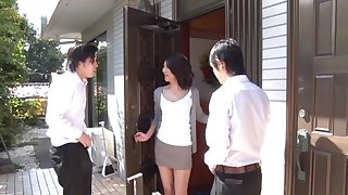 Consenting looking Shihori Endoh enjoys in MMF threesome with her friends