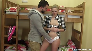 Rough doggy style after amazing blowjob is idea of dirty blonde