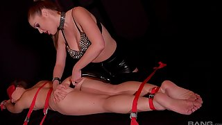 Lesbian BDSM and a slave role is amazing experience for Angelica Heart