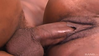 Ebony mature tries rub-down the young step son for a handful left alone rounds