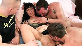 Emma gangbanged measurement her husband is watching
