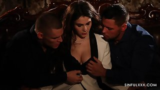 Erotic candlelight triptych mating video featuring Italian babe Valentina Nappi