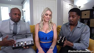 Bitch gets blacked with reference to dwelling-place amateur threesome