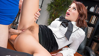 VR BANGERS Squirting Finish In The Office