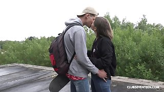 Random guy ass fucks teenager with the addition of cums essentially her face