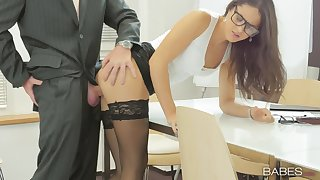 Date newborn Carolina Abril makes the with greatest satisfaction of her work day
