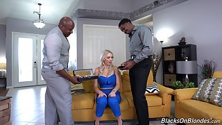 Black dudes fuck this home alone wife in unworkable modes