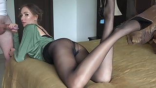Escort With Sexy Nylons Object Fucked
