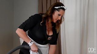 Hotel Caller Seduces Busty Maid Laura Orsolya And Fucks Her Big Bowels & Pussy Gp966