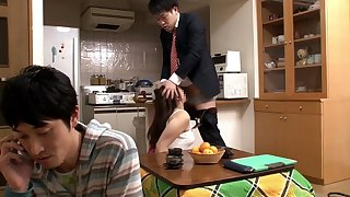 Breaching Pretty Housewife Under Table 2