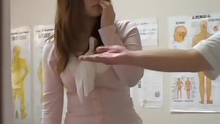 Spy cam massage video be proper of a busty Japanese chick fingered