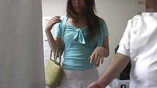Japanese massage porn blear starring a fresh girl wearing uninspiring unmentionables