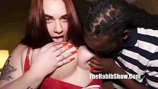 Horny BBW hussy insane interracial scene