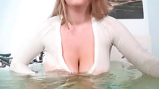 Milky blonde slut Kali with weighty tits gets drilled deeply