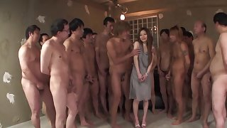 A single Japanese lady is back-breaking to satisfy a dozen of men